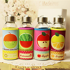 1PC 300 Ml Sealing Glass Drop Warm Insulation Students Hand In Glass Cartoon Fruit Water bottles 4885432