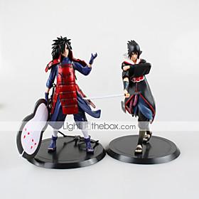 2PCS Uchiha Madara 18CM Uchiha Sasuke  PVC Anime Action Figures Doll Toys 4880441