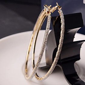 Women's Hoop Earrings Earrings stardust Ladies Fashion Jewelry Silver / Golden For Wedding Party Daily Casual