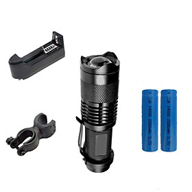 Lights LED Flashlights/Torch / Clips and Mounts LED 2000 Lumens 3 Mode Cree XR-E Q5 14500 / AAAdjustable Focus / Waterproof / Impact 4924490