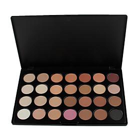 28 Colors Smoky Eyeshadow/Base Primer/Foundation/Blusher/Bronzer Professional Cosmetic Palette with 4 Eyeshadow Brush 4914418