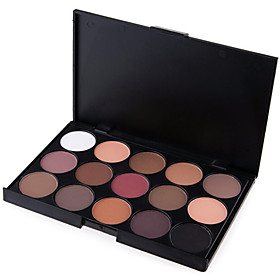 15 Colors 5in1 Smoky Eyeshadow/Makeup Base Primer/Foundation/Blusher/Bronzer Professional Cosmetic Palette Earth Tone 4895053