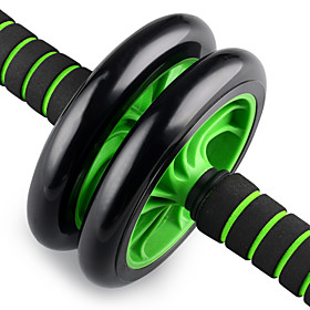 Ab Wheel Roller Rubber Low Noise Durable Foam Grip Weight Loss Core Stability Abdominal Toning Exercise  Fitness Gym Workout Workout For Arm Leg Abdomen Home O