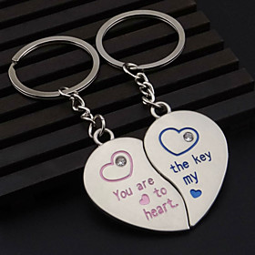 A Pair The New Design Of Heart-Shaped Lovers Keychain Pendant Delicate Small Ornament Gift Couples 4936808