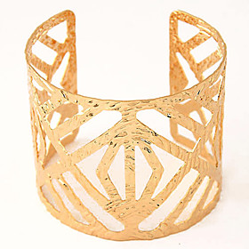 Women's Hollow Cuff Bracelet Wide Bangle - European, Fashion, Open Bracelet Silver / Golden For Party Daily Casual