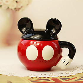 1PC 300 Ml Cute Cartoon Cartoon Ceramic Creative Cup 4885437