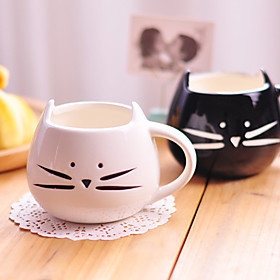 1PC 300ML Cute Black And White Cat Ceramic Cup Personality Single Cup Rural Amorous Feelings Cup Gifts 4885440