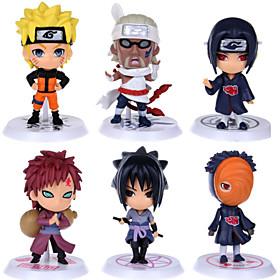Naruto Action Figures Uzumaki Naruto Gaara Pein Killer Uchiha Obito Hoshigaki Kisame PVC Figures Toys 6pcs/set 4880444