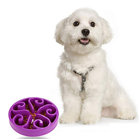 High Quality Slow Down Mixed Material  Bowl for Dogs (Assort Color) 4908743