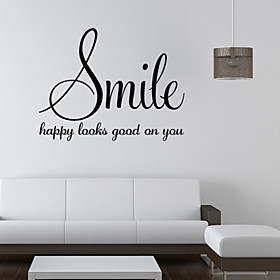Words  Quotes Wall Stickers Plane Wall Stickers Decorative Wall Stickers, PVC Home Decoration Wall Decal Wall
