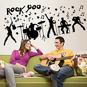 Wall Stickers Wall Decals Style Creative Rock PVC Wall Stickers 4960288