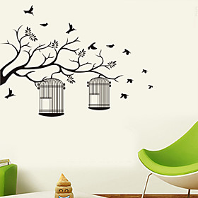 Wall Stickers Wall Decals Style The Branches on The Cage PVC Wall Stickers 4955074