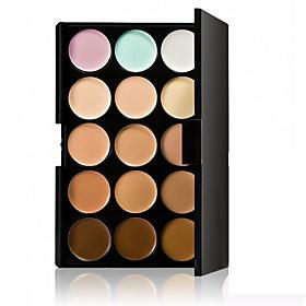 Professional Concealer Palette 15 Color Concealer Facial Face Cream Care Camouflage Makeup base Palettes Fashionable Women Cosmetic Kit Rectangle Box 4968510
