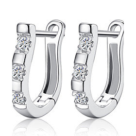 Women's Hoop Earrings Huggie Earrings Sterling Silver Silver Earrings Ladies Birthstones Jewelry Silver For Wedding Party Daily Casual Masquerade Engagement Pa