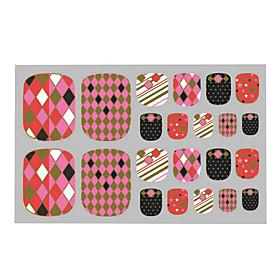 Lovely Toenails Sticker Bronzing Pink 3D Nail Stickers