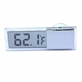 :ZIQIAO Suction Cup Type Car Thermometer Digital Display Thermometer Transparent Liquid Crystal Display 4955037