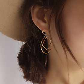 Women's Geometric Stud Earrings - European, Simple Style, Fashion Silver / Golden For Party Daily Casual