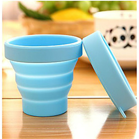 Portable Travel Silicone Folding Cups Outdoor sports Telescopic Gargle Random Color 4970803