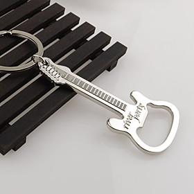 Gift Zinc Alloy beer guitar bottle opener bottle opener keychain keyring key chain key ring