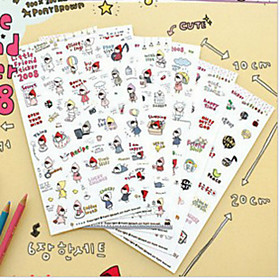 1PC Cute Kawaii Cartoon Little Red Riding Hood PVC Stickers For Diary Scrapbooking Cellphone Decoration(Style random) 4966458