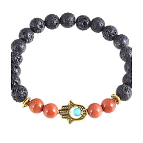 New Arrival Nature Stone Evil Eye Hand Strand Bracelets Daily / Casual 1pc Hot Sale 4973891