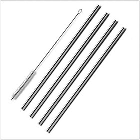 4 Pack of Straws Stainless Steel Drinking Reusable One Brush Set Cleaning for Yeti Tumbler 4968584