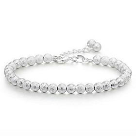 Women's Beads Chain Bracelet Charm Bracelet - Sterling Silver Ball Unique Design, Fashion Bracelet Silver For Wedding Party Gift