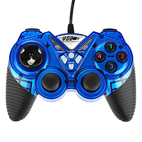 USB-908 Double Shock Controller Blue 4972567