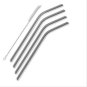 4 Pack ofStraws Stainless Steel Drinking Reusable Brush Set Cleaning for Yeti Tumbler 4959145
