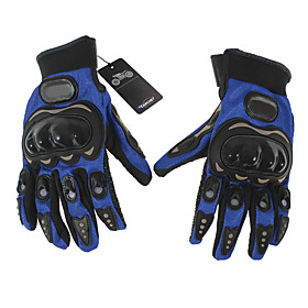 Pair Cycling Bicycle Motorcycle Outdoors Sports Full Finger Gloves Blue M Model 1 4991555