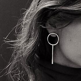 Women's Tassel Stud Earrings Hoop Earrings - European, Simple Style Silver / Golden For Party Daily Casual