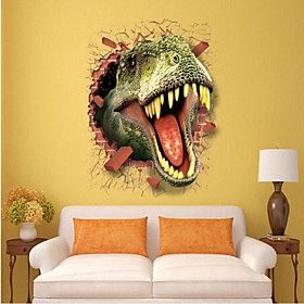 3D Dinosaur Wall Stickers Decals For Kids Rooms Art For Baby Nursery Room Christmas Gift Decoration Kids Cartoon Poster 4952743