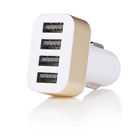 Cwxuan Car Charger USB Charger Universal Multi-Output 2 USB Ports DC 12V-24V for