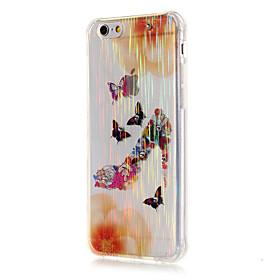 Per Custodia iPhone 6 \/ Custodia iPhone 6 Plus Transparente Custodia Custodia posteriore Custodia Farfalla Morbido TPUiPhone 6s Plus\/6