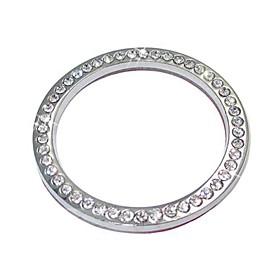 ZIQIAO Auto Decoration Accessories Car Button Switch Button Diamond Ring