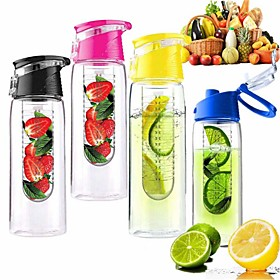 800ml Cycling Sport Fruit Infusing Infuser Water Lemon Cup Juice Bicycle Health Eco-Friendly(Random color) 4978289