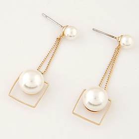 Women's Pearl Drop Earrings - Pearl, Imitation Pearl Fashion Golden For Party Daily Casual