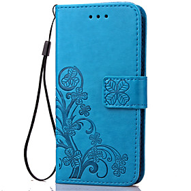 DE JI Case For Sony Xperia Z5 / Sony Xperia Z4 / Sony Xperia Z5 Compact Sony Case Wallet / Card Holder / with Stand Full Body Cases Flower Hard PU Leather for