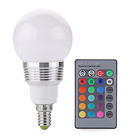 1pc 3 W 250 lm E14 / E26 / E27 LED Globe Bulbs / LED Smart Bulbs A60(A19) 1 LED Beads SMD 5050 Dimmable / Remote-Controlled / Decorative RGBWW 85-265 V / 1 pc