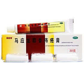 Mayinglong Hemorrhoids Ointment Musk Anal Fissure Constipation Cure Bowel Bleeding 20g 1Pc with Cotton Swab 5004843