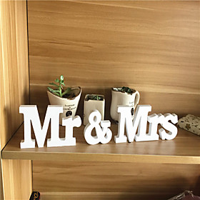 PVC MR   MRS letter Wedding Decorations-3Piece/Set Unique Wedding Décor / Ornaments Engagement 5040978