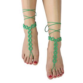Women's Beach Fashion Crochet  Loop Ring Shape Barefoot Sandals Jewellery Ankle Bracelet 5053245