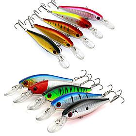 10.5cm 9.5g/Pcs Lure Fishing Tackle Lure Bionic Bait Lure Fishing Lure Minnow Crankbait Trout Tackle 10 Pcs/set 5051750