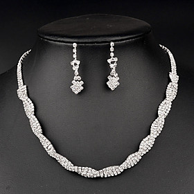 Jewelry Set Women's Anniversary / Wedding / Birthday / Gift / Party / Special Occasion Jewelry Sets Rhinestone CrystalNecklaces / 5005253