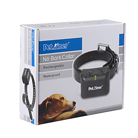 Waterproof Rechargeable LED Electric Anti Bark No Barking Dog Shock Vibration Collar for Small Medium Dogs 1756136