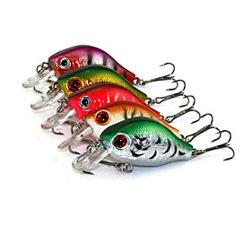 5.5cm 8g/Pcs Rock Lures Bait Fishing Plastic Hard Lure Bionic Lure 8# Hocks 5 Pcs/set 5051756