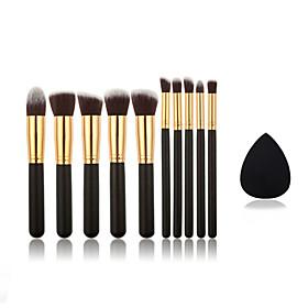 10pcs Makeup Brushes And Small Size Makeup Sponge 5029736