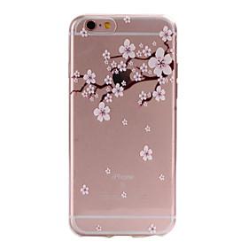 Pour Coque iPhone 6 / Coques iPhone 6 Plus Transparente / Motif Coque Coque Arrière Coque Fleur Flexible TPU AppleiPhone 6s Plus/6 Plus / sale 2017