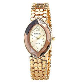 Women's Fashionable  Retro Glasses Oval Bracelet Watch 5014143