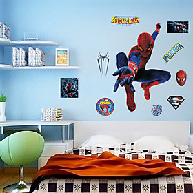 Spider-Man Wall Stickers Environmental DIY Superhero Kids Bedroom Plane Wall Decals Wall Art 5012469